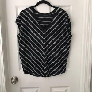 WHBM Cap sleeve striped t shirt